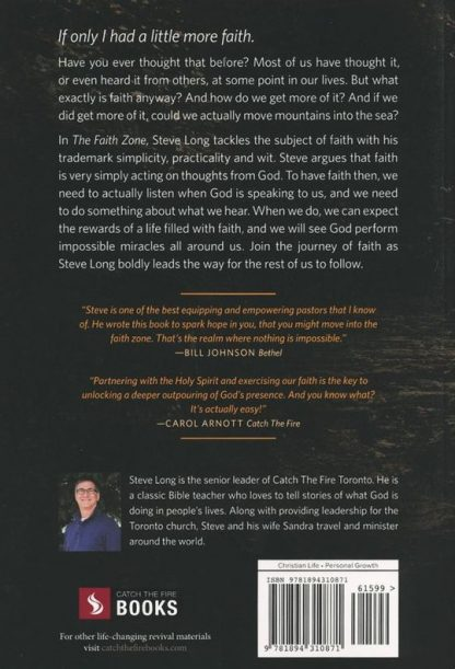 back cover image of the faith zone book
