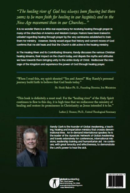 back cover image of healing river book