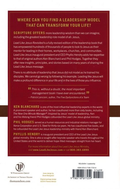 back cover image of Lead Like Jesus book