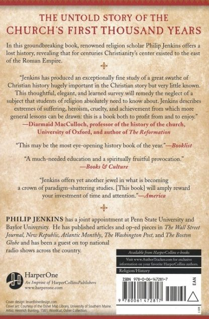 back cover image of the lost history of christianity book