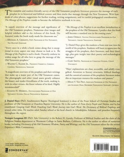 back cover image of the message of the prophets book