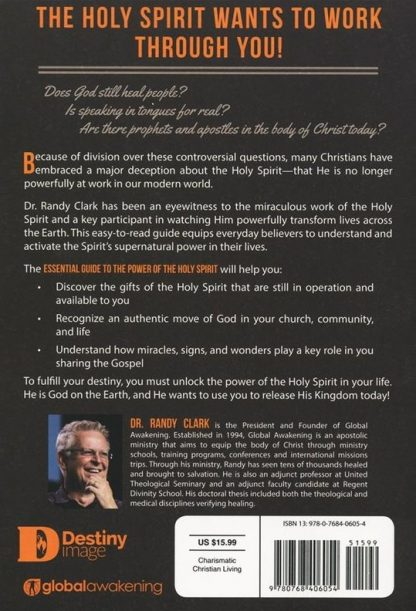back cover image of the essential guide to the power of the holy spirit book