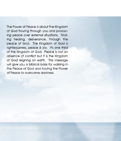 back cover image of the power of peace dvd