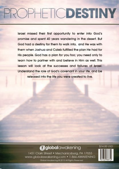 back cover image of prophetic destiny dvd