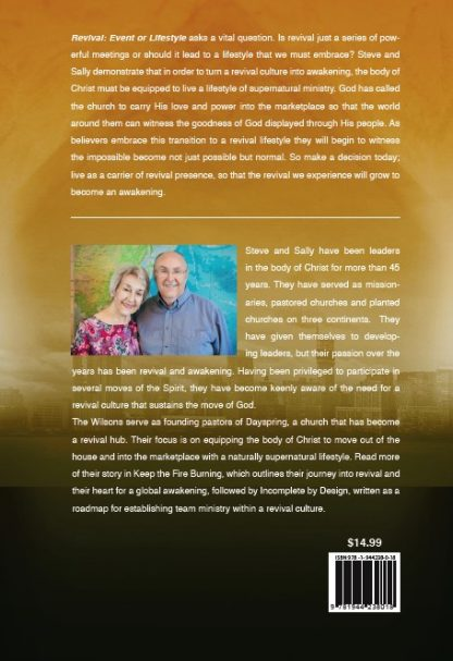 back cover image of revival event or lifestyle book